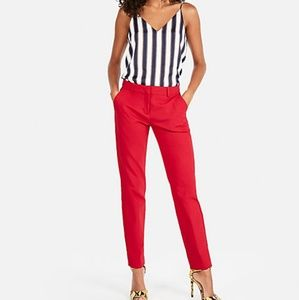 Express Mid Rise Red Ankle Pants